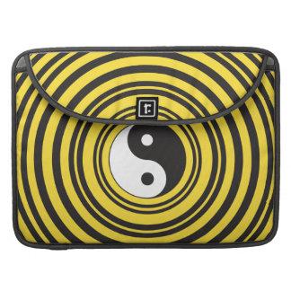 Yin Yang Taijitu symbol Yellow Black Ripples Sleeve For MacBooks