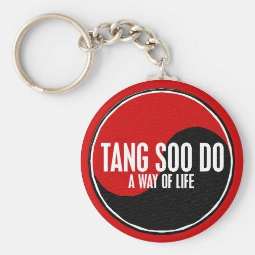 Yin Yang Tang Soo Do 1 Basic Round Button Keychain