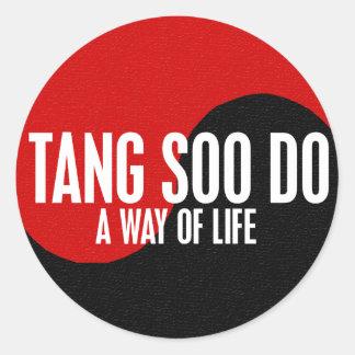 Yin Yang Tang Soo Do 1 Classic Round Sticker