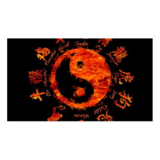 Yin yang. tarjeta de visita