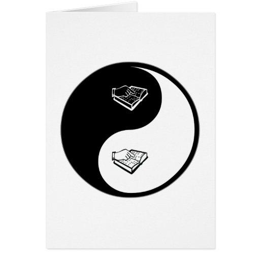 Yin Yang Teaching the Visually Impaired Greeting Card