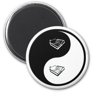 Yin Yang Teaching the Visually Impaired 2 Inch Round Magnet