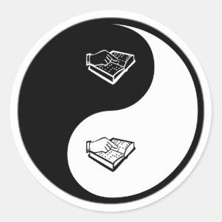 Yin Yang Teaching the Visually Impaired Round Sticker