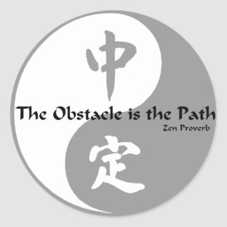Yin Yang - The Obstacle Classic Round Sticker