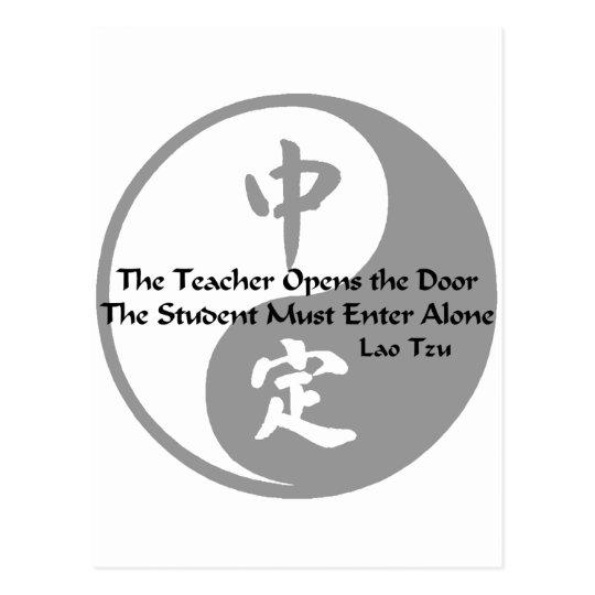 Yin Yang -  The Teacher Postcard