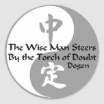 Yin Yang - The Wise Man Classic Round Sticker