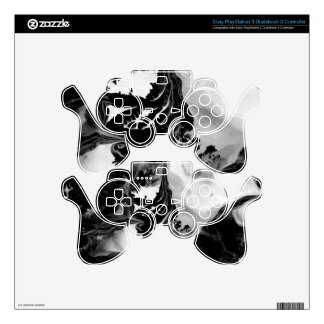 YIN - YANG TOO! (black & white art) ~ ~ Decal For PS3 Controller