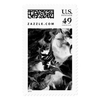 YIN - YANG TOO! (black & white art) ~ ~.jpg Postage