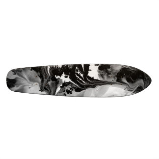 YIN - YANG TOO! (black & white art) ~ ~ Skateboard Deck
