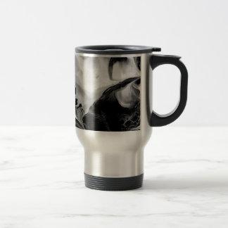 YIN - YANG TOO! (black & white art) ~ ~ Travel Mug
