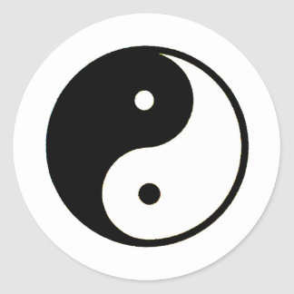 Yin Yang transp The MUSEUM Zazzle Gifts Stickers