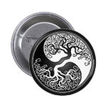 Yin Yang Tree 2 Inch Round Button