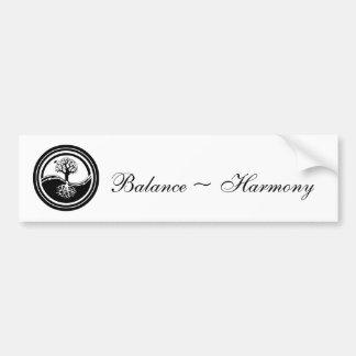 Yin Yang ~ Tree - Balance & Harmony Bumper Sticker