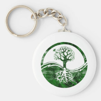 Yin Yang Tree Basic Round Button Keychain