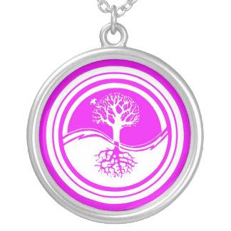 Yin Yang Tree ~ Lavender & White Necklace