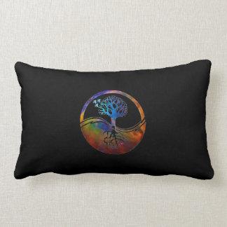 Yin Yang Tree Lumbar Pillow