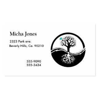 Yin Yang Tree Of Life Black & White Business Card