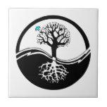 Yin Yang Tree Of Life Black & White Ceramic Tiles