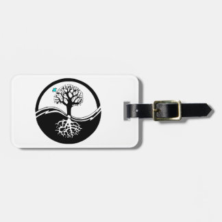 Yin Yang Tree Of Life Black & White Tag For Luggage