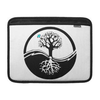 Yin Yang Tree Of Life Black & White MacBook Air Sleeve