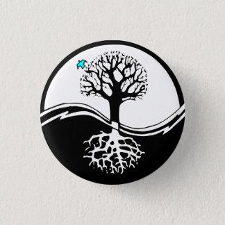 Yin Yang Tree Of Life Black & White Pinback Button