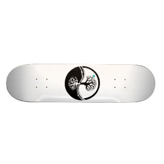 Yin Yang Tree Of Life Black & White Skateboard Deck
