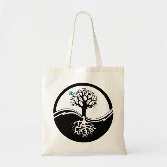 Yin Yang Tree Of Life Black & White Tote Bag