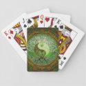 Yin Yang Tree of Life Green Playing Cards (<em>$10.50</em>)