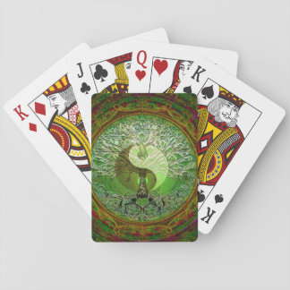 Yin Yang Tree of Life Green Playing Cards