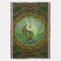Yin Yang Tree of Life Green Throw (<em>$84.40</em>)