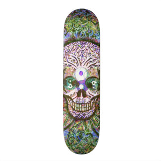 Yin Yang Tree of Life Skull for Skateboards