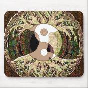 Yin Yang Tree of Life Tan Mouse Pad (<em>$11.60</em>)