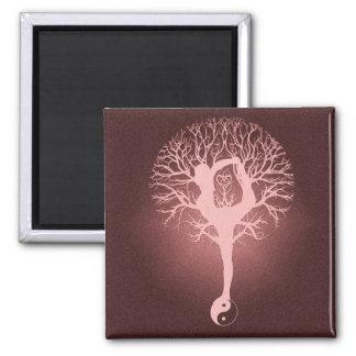 Yin yang, tree of life, yoga, harmony by Amelia Magnets