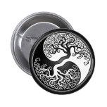 Yin Yang Tree Pinback Buttons