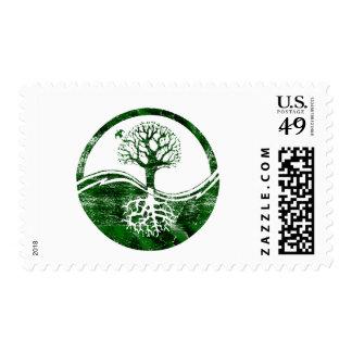 Yin Yang Tree Postage
