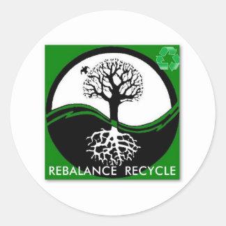 Yin Yang Tree Rebalance Recycle Classic Round Sticker