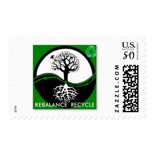 Yin Yang Tree Rebalance Recycle Postage