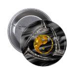 Yin & Yang / Tribal - gold silver 2 Inch Round Button