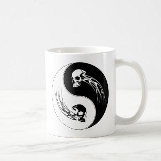 Yin Yang Tribal Skull Coffee Mug