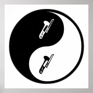 Yin Yang Trombone Posters