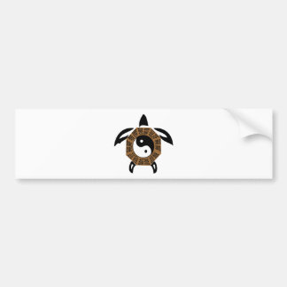 yin-yang-turtle bumper sticker