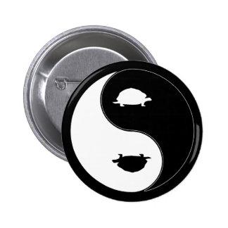 Yin Yang Turtle Pinback Button