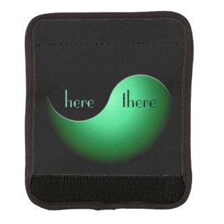 yin yang - verde funda para asa de maleta