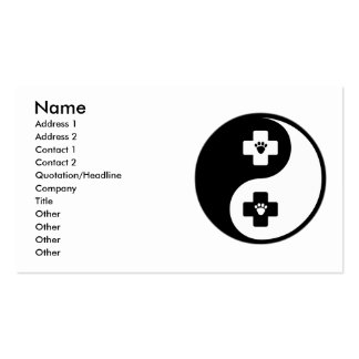 Yin Yang Veterinary Medicine Double-Sided Standard Business Cards (Pack Of 100)