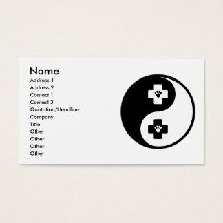 Yin Yang Veterinary Medicine Business Card