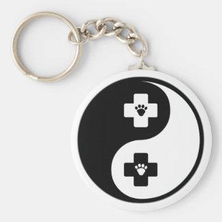 Yin Yang Veterinary Medicine Keychain