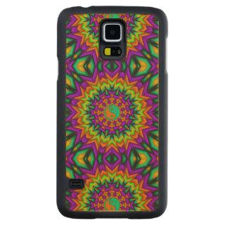 Yin Yang Vibrance Carved® Maple Galaxy S5 Slim Case