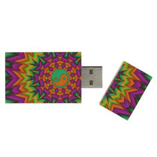 Yin Yang Vibrance Wood USB 3.0 Flash Drive