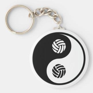 Yin Yang Volleyball Key Chains