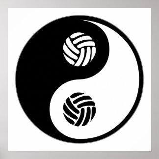Yin Yang Volleyball Poster